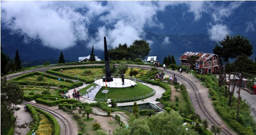 Honeymoon Places in Darjeeling Batasia Loop
