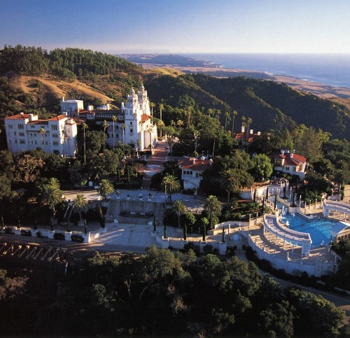 Honeymoon places in California Hearst Castle at San Simeon