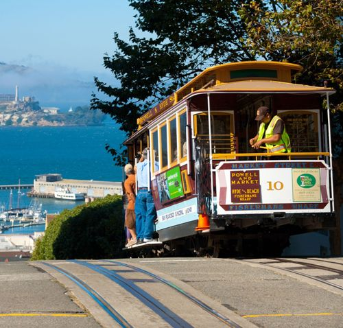 Honeymoon places in California cable car ride, San Francisco