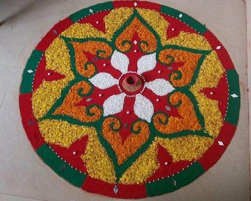 Rangoli with rice 5