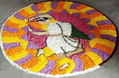 Rangoli with rice 9