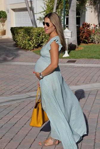 Summer Dresses During Pregnancy - Empire Waist Maxi Dress