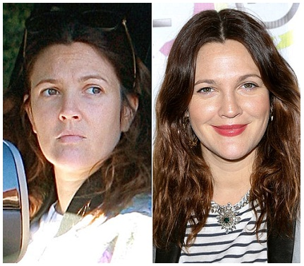 Drew Barrymore without makeup 1