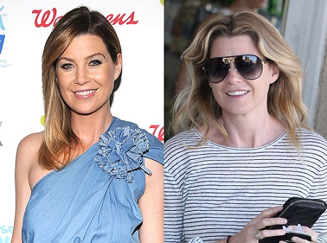 Ellen Pompeo with and without makeup 8