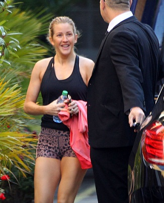 Exclusive... Makeup Free Ellie Goulding Hits The Gym