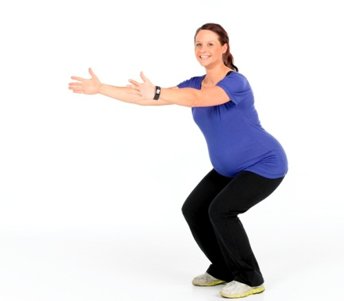 Exercises During Second Trimester-Simple Squats