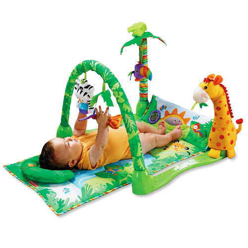 Toys For 1 Year Old Baby - Fisher Price Rain Forest Musical Gym