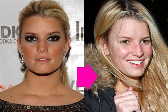 Jessica Simpson without makeup 9