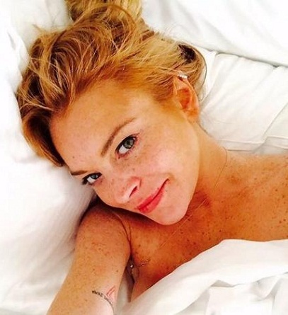 Lindsay Lohan without makeup1