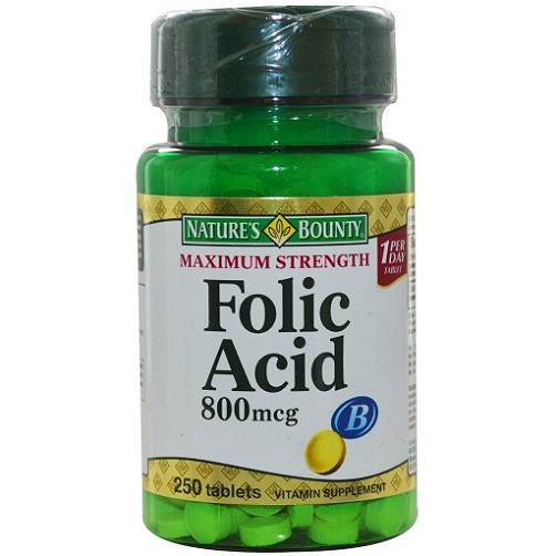 Nature's Bounty Folic Acid (400 mcg), Unflavored 250 Tablet(s)