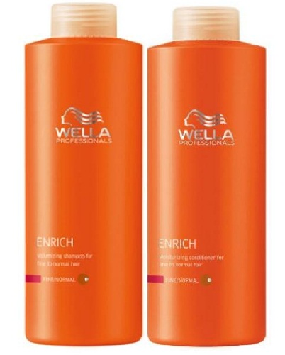 Wella Professional Enrich Shampoo & Conditioner For Straightened Hair