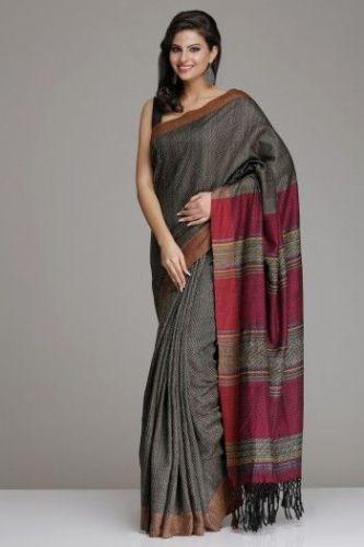 Best Grey Silk Saree 6