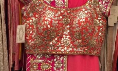 Best Pink Blouse For Pattu Saree 5