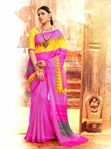 Bhagalpuri Sarees-Casual wear Bhagalpuri Silk Saree 11