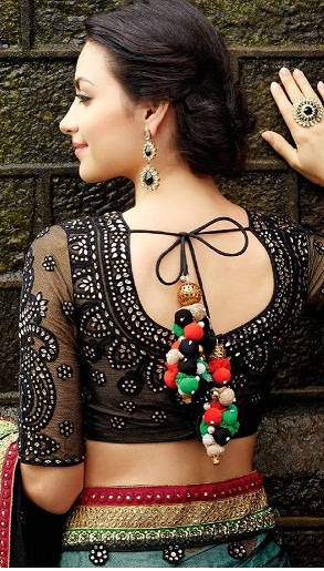Blouse Back Neck Designs With Stone Work2