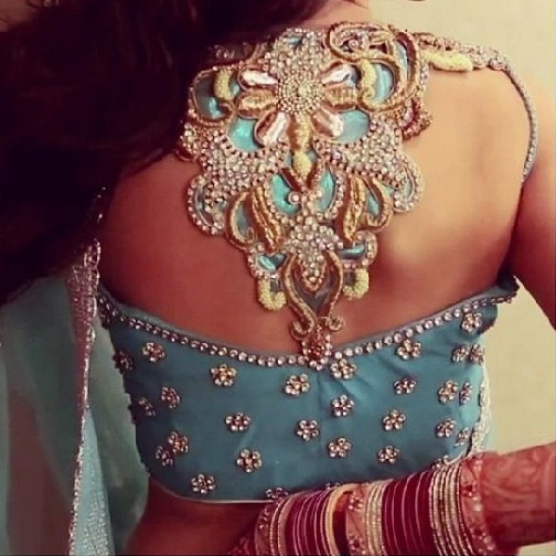 Blouse Back Neck Designs With Stone Work4