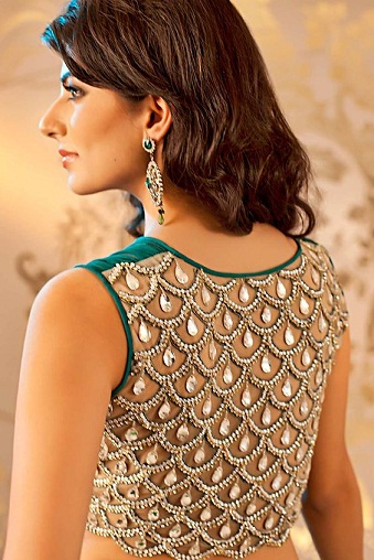 Blouse Back Neck Designs With Stone Work6