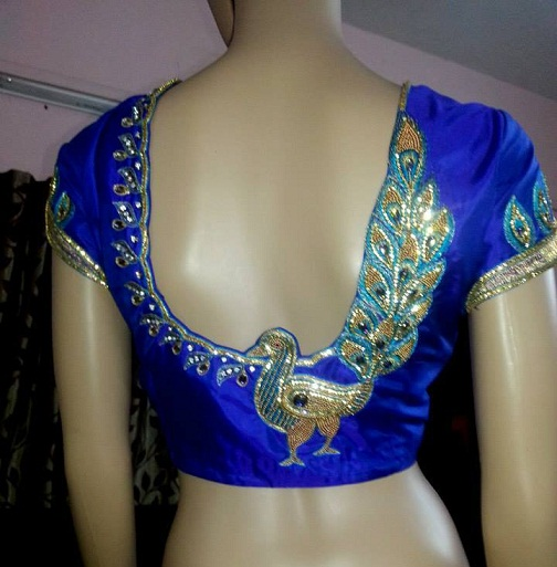 Blouse Back Neck Designs With Stone Work8