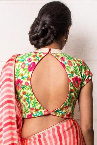 Blouse Back Neck Designs10