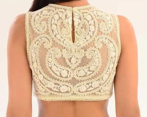 Blouse Back Neck Designs24