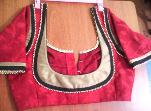 Blouse Designs with Border13