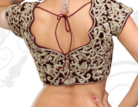 Blouse Designs with Border3