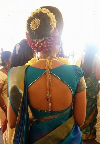 Blouse back neck designs for pattu sarees1