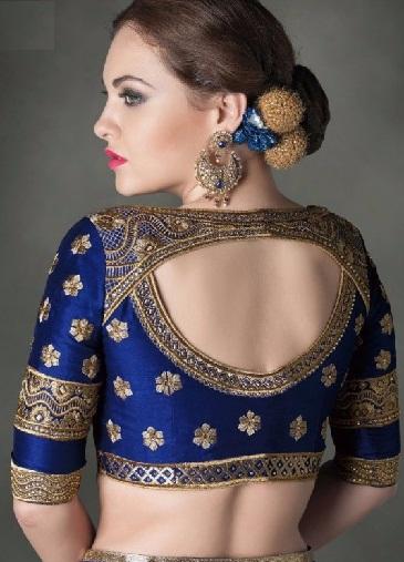 Models for sarees pattu 2017 neck blouse kardashian