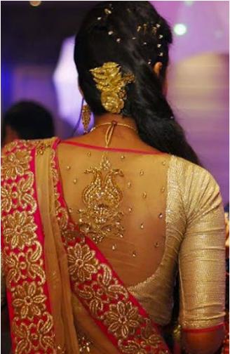 Blouse back neck designs for pattu sarees15