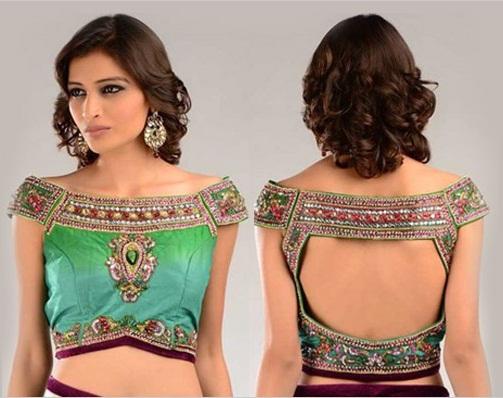 Blouse back neck designs for pattu sarees7