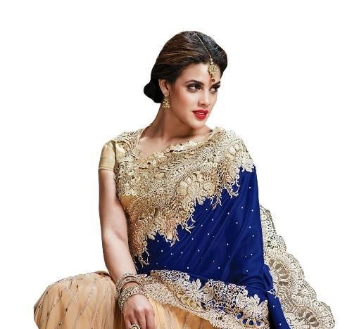 Blue Sarees-Ultimate Stylist Edition Blue Saree 15