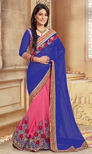 Blue Sarees-Wedding Blue Saree 8