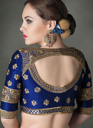 Blue blouse designs2