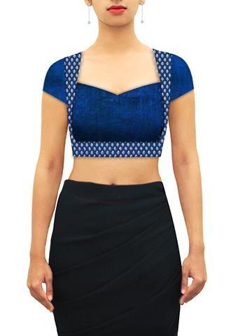 Blue blouse designs5