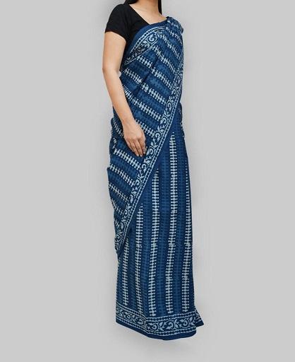 Designer Indigo Cotton Sarees 3