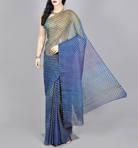 Designer Indigo Cotton Sarees 4