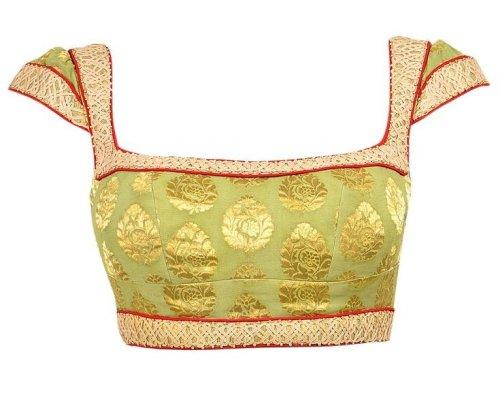 Designer Patchwork Blouse For Plain Sarees 8