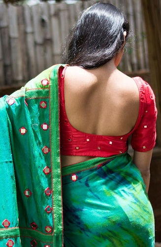 Designer blouse designs for silk sarees