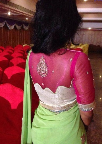 Designer blouse designs for silk sarees2