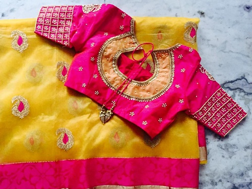 Designer blouse designs for silk sarees6