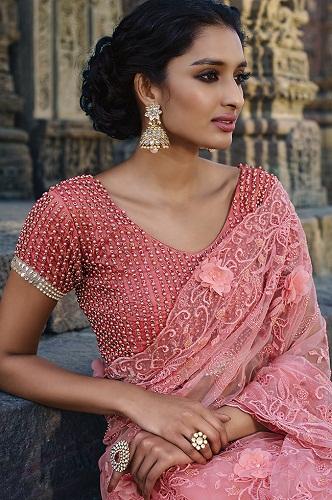 499970771b2f9c Top 15 Alluring Designs of Designer Blouses For Net Sarees