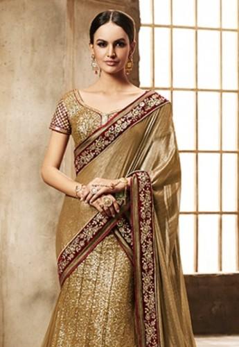 Dignified Golden Saree 9