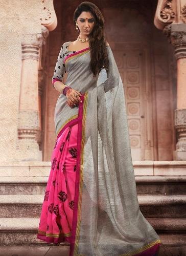 Double Color Designer Saree 3