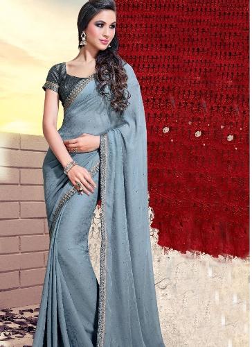 grey sarees