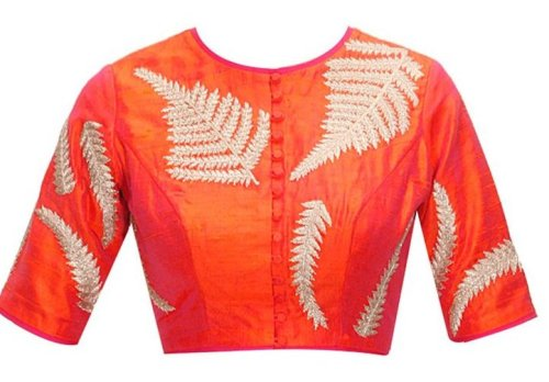 Embroidered Round Neck Blouse 1
