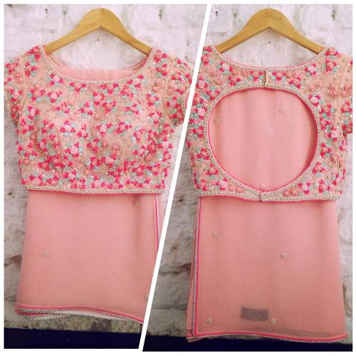 Expensive Pink Blouse Design 9