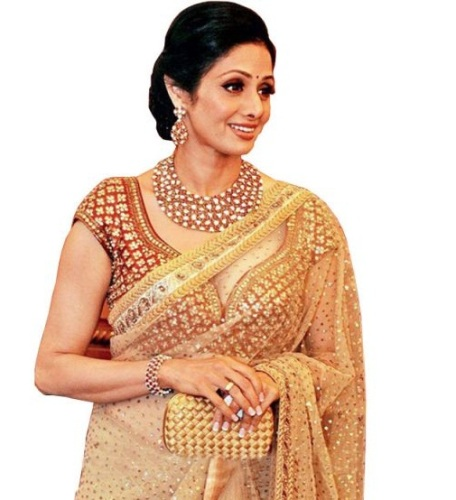 Golden Designer Saree 2