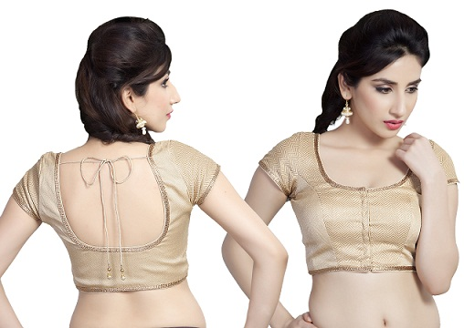 Golden blouse designs5