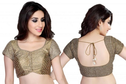 Golden blouse designs6