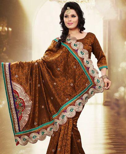 Gorgeous Brown Saree 7